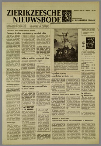 Zierikzeesche Nieuwsbode 1962-04-24