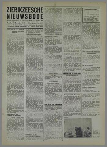 Zierikzeesche Nieuwsbode 1942-12-21