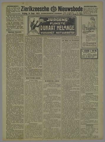 Zierikzeesche Nieuwsbode 1923-09-14