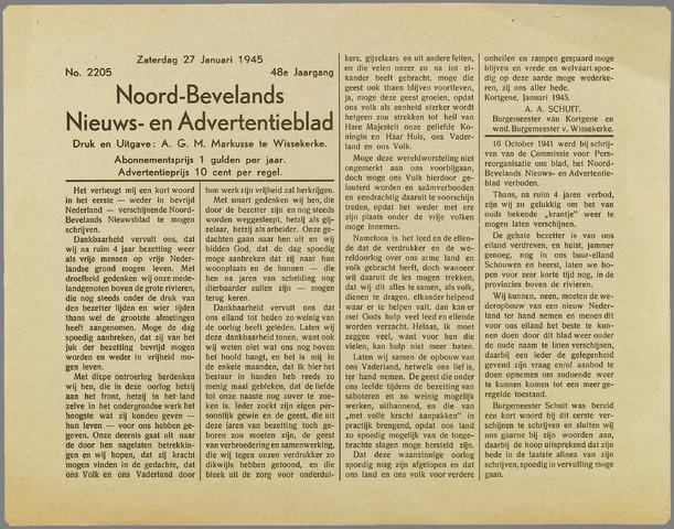 Noord-Bevelands Nieuws- en advertentieblad 1945-01-27