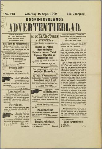 Noord-Bevelands Nieuws- en advertentieblad 1909-09-18