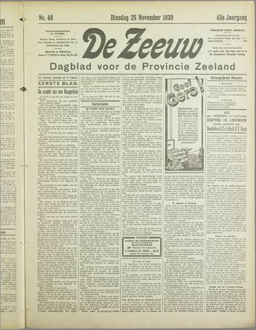 De Zeeuw. Christelijk-historisch nieuwsblad voor Zeeland 1930-11-25