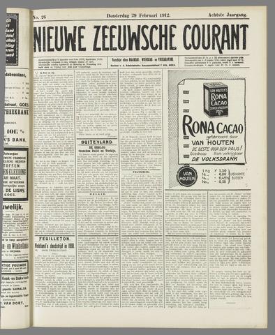 Nieuwe Zeeuwsche Courant 1912-02-29