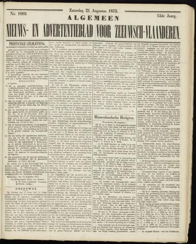 Ter Neuzensche Courant. Algemeen Nieuws- en Advertentieblad voor Zeeuwsch-Vlaanderen / Neuzensche Courant ... (idem) / (Algemeen) nieuws en advertentieblad voor Zeeuwsch-Vlaanderen 1875-08-21