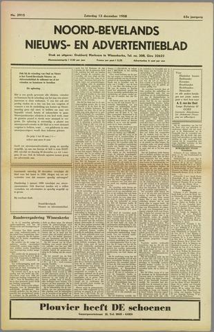 Noord-Bevelands Nieuws- en advertentieblad 1958-12-13