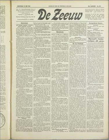 De Zeeuw. Christelijk-historisch nieuwsblad voor Zeeland 1934-06-14
