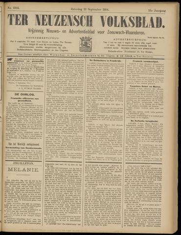 Ter Neuzensch Volksblad. Vrijzinnig nieuws- en advertentieblad voor Zeeuwsch- Vlaanderen / Zeeuwsch Nieuwsblad. Nieuws- en advertentieblad voor Zeeland 1914-09-12