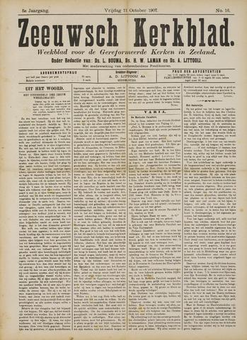 Zeeuwsche kerkbode, weekblad gewijd aan de belangen der gereformeerde kerken/ Zeeuwsch kerkblad 1907-10-11