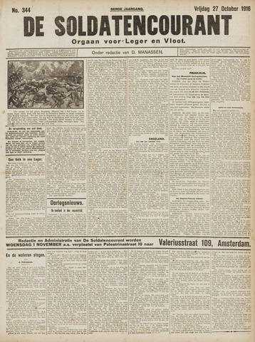 De Soldatencourant. Orgaan voor Leger en Vloot 1916-10-27