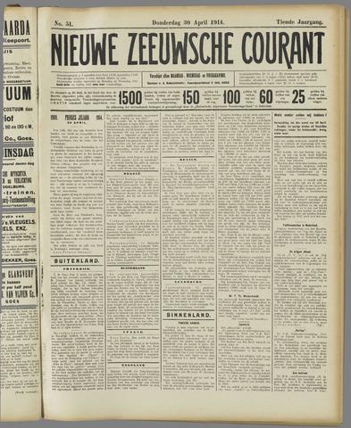 Nieuwe Zeeuwsche Courant 1914-04-30
