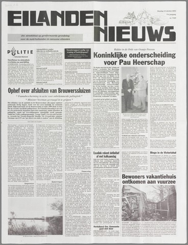 Eilanden-nieuws. Christelijk streekblad op gereformeerde grondslag 2004-10-19