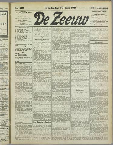 De Zeeuw. Christelijk-historisch nieuwsblad voor Zeeland 1918-06-20