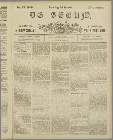 De Zeeuw. Christelijk-historisch nieuwsblad voor Zeeland 1906-01-20