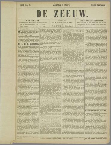 De Zeeuw. Christelijk-historisch nieuwsblad voor Zeeland 1890-03-15