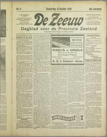 De Zeeuw. Christelijk-historisch nieuwsblad voor Zeeland 1929-10-10