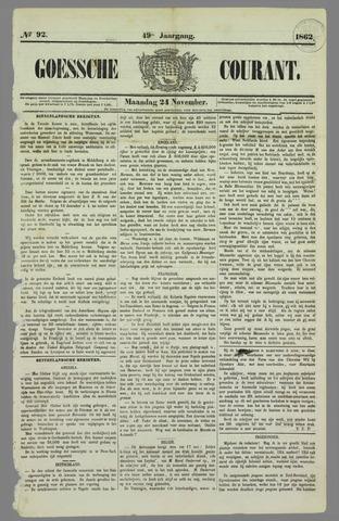 Goessche Courant 1862-11-24