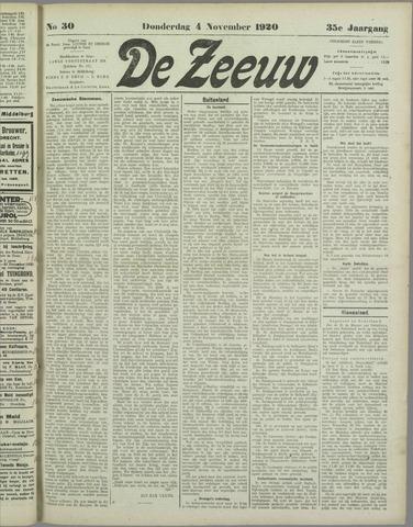 De Zeeuw. Christelijk-historisch nieuwsblad voor Zeeland 1920-11-04