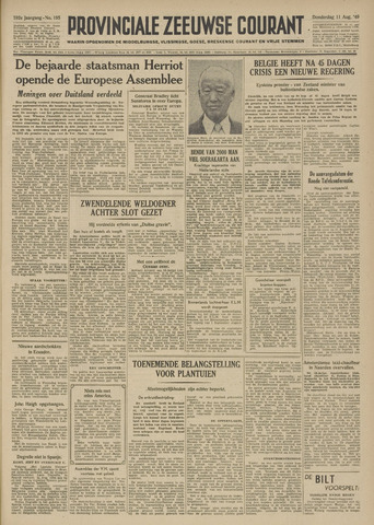 Provinciale Zeeuwse Courant 1949-08-11