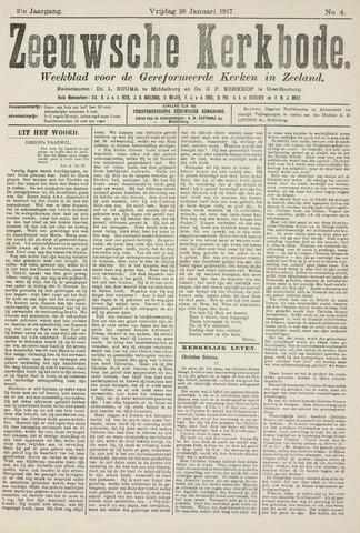 Zeeuwsche kerkbode, weekblad gewijd aan de belangen der gereformeerde kerken/ Zeeuwsch kerkblad 1917-01-26