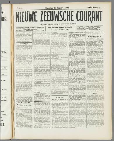 Nieuwe Zeeuwsche Courant 1908-01-11