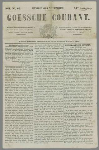 Goessche Courant 1867-11-05