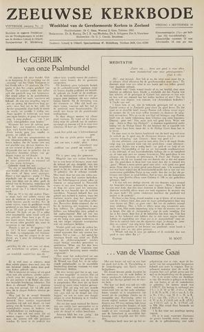 Zeeuwsche kerkbode, weekblad gewijd aan de belangen der gereformeerde kerken/ Zeeuwsch kerkblad 1959-09-04