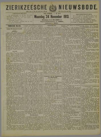 Zierikzeesche Nieuwsbode 1913-11-24