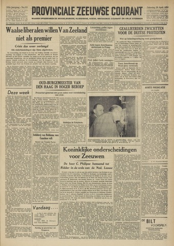 Provinciale Zeeuwse Courant 1950-04-29
