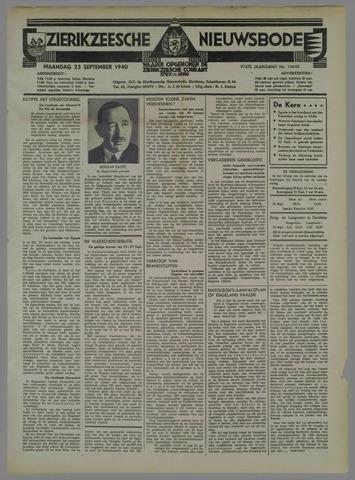 Zierikzeesche Nieuwsbode 1940-09-23