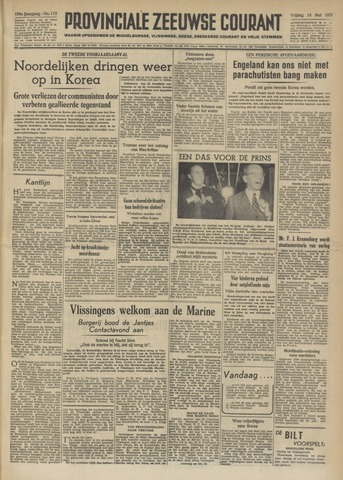 Provinciale Zeeuwse Courant 1951-05-18