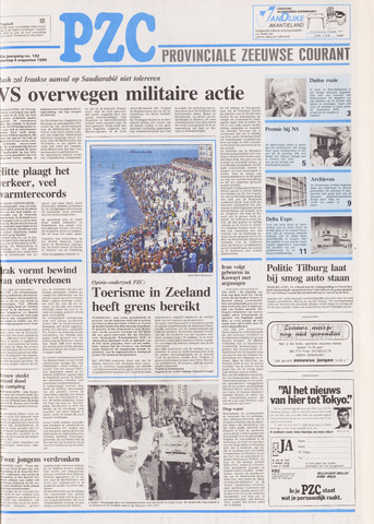 Provinciale Zeeuwse Courant 1990-08-04