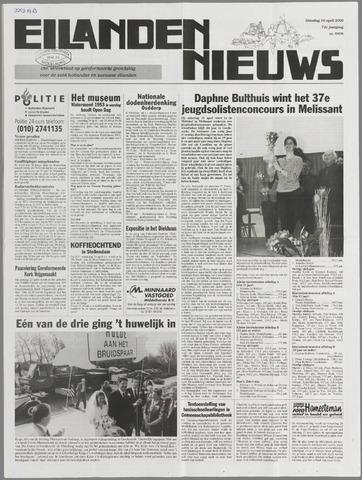 Eilanden-nieuws. Christelijk streekblad op gereformeerde grondslag 2000-04-18