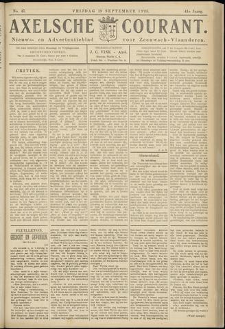 Axelsche Courant 1925-09-18