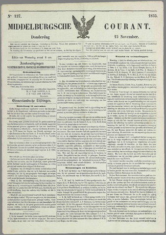 Middelburgsche Courant 1855-11-15