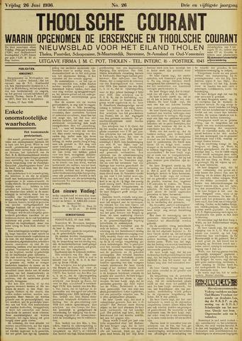 Ierseksche en Thoolsche Courant 1936-06-26
