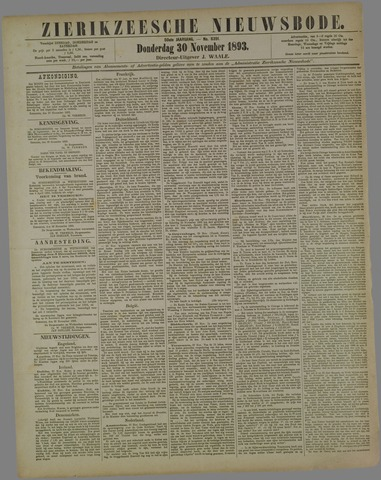 Zierikzeesche Nieuwsbode 1893-11-30