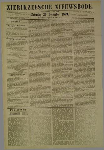 Zierikzeesche Nieuwsbode 1889-12-29