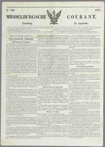 Middelburgsche Courant 1855-08-25