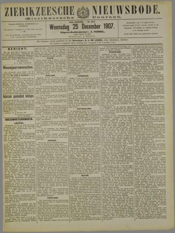 Zierikzeesche Nieuwsbode 1907-12-25