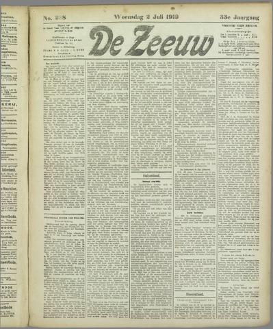 De Zeeuw. Christelijk-historisch nieuwsblad voor Zeeland 1919-07-02