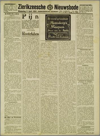 Zierikzeesche Nieuwsbode 1924-04-09