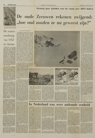 Watersnood documentatie 1953 - krantenknipsels 1973