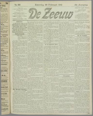 De Zeeuw. Christelijk-historisch nieuwsblad voor Zeeland 1917-02-10