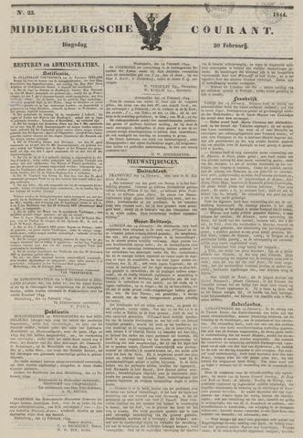 Middelburgsche Courant 1844-02-20