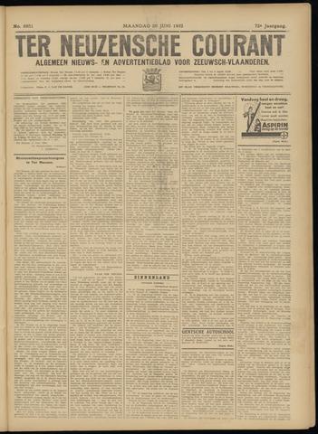 Ter Neuzensche Courant. Algemeen Nieuws- en Advertentieblad voor Zeeuwsch-Vlaanderen / Neuzensche Courant ... (idem) / (Algemeen) nieuws en advertentieblad voor Zeeuwsch-Vlaanderen 1932-06-20