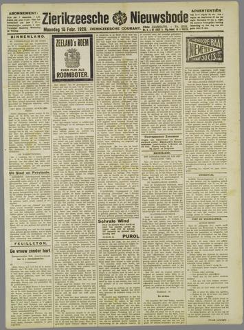 Zierikzeesche Nieuwsbode 1926-02-15
