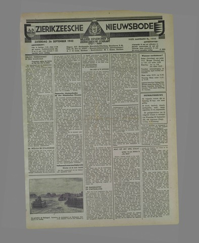 Zierikzeesche Nieuwsbode 1942-09-26