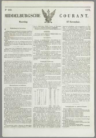 Middelburgsche Courant 1871-11-27