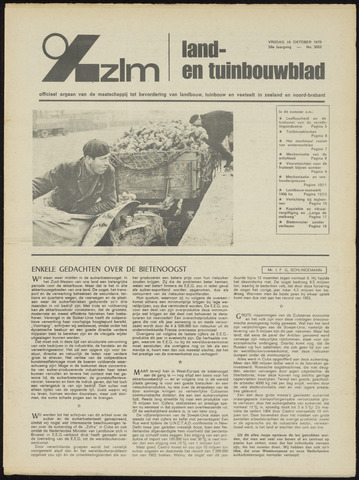 Zeeuwsch landbouwblad ... ZLM land- en tuinbouwblad 1970-10-14