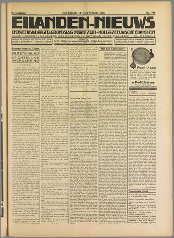 Eilanden-nieuws. Christelijk streekblad op gereformeerde grondslag 1936-11-14